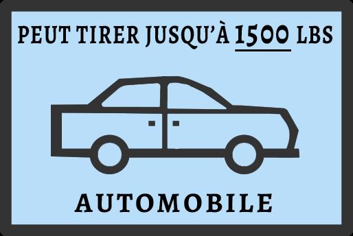 PEUT TIRER JUSQ'À 1500 LBS - AUTOMOBILE